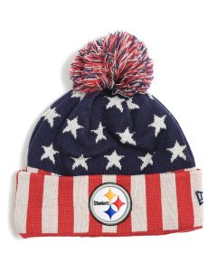 Pittsburgh Steelers New Era Stars & Stripes Knit Hat