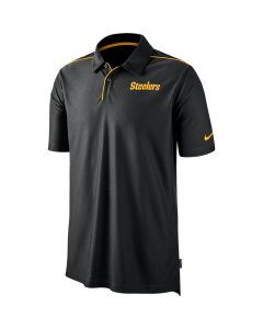 Pittsburgh Steelers Men's Nike Dri-FIT Team Issue Black Polo