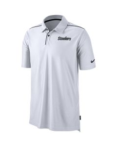 Pittsburgh Steelers Men's Nike Dri-FIT Team Issue White Polo