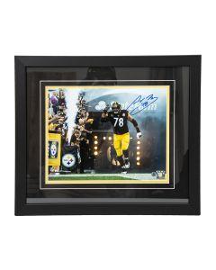 Pittsburgh Steelers #78 Alejandro Villanueva Signed Framed 11x14 Photo