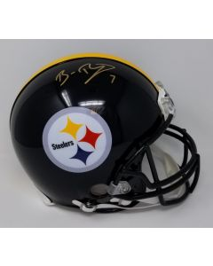 Pittsburgh Steelers #7 Ben Roethlisberger Autographed Riddell ProLine Authentic Full Size Helmet