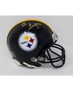 Pittsburgh Steelers #7 Ben Roethlisberger Autographed Riddell Mini Helmet