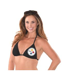 Pittsburgh Steelers Women's Breaking Waves Bikini Top