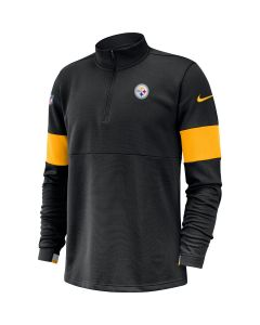 Pittsburgh Steelers Men's Nike Long Sleeve Therma 1/2 Zip Fleece