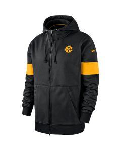 Pittsburgh Steelers Men's Nike Therma Full Zip Hoodie
