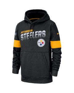 Pittsburgh Steelers Men's Nike Line of Scrimmage Therma Black Hoodie