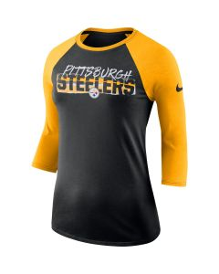 Pittsburgh Steelers Women's Nike Long Sleeve Raglan Shirt
