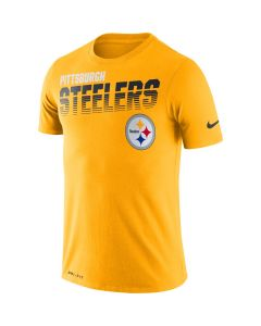 Pittsburgh Steelers Men's Nike Short Sleeve Line of Scrimmage Gold T-Shirt