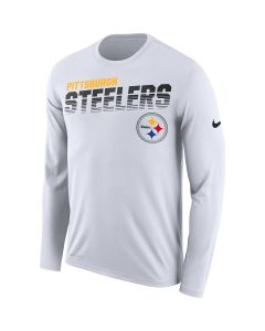 Pittsburgh Steelers Men's Nike Long Sleeve Line of Scrimmage White T-Shirt