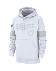 Pittsburgh Steelers Men's Nike Therma 100 Years White Hoodie