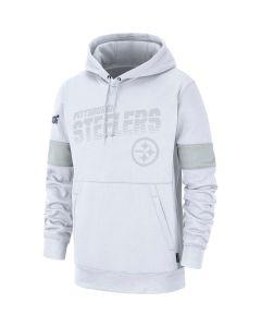 Pittsburgh Steelers Men's Nike Therma 100 Years White Hoodie