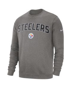 Pittsburgh Steelers Men's Nike Club Fleece Grey Crew