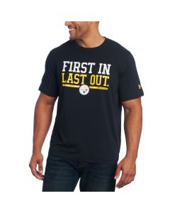 Pittsburgh Steelers Under Armour NFL Combine Short Sleeve First In T-Shirt