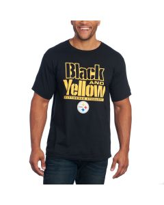 Pittsburgh Steelers Black and Yellow Short Sleeve T-Shirt
