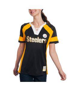 Pittsburgh Steelers Women's Majestic Black Draft Me Tee
