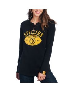 Pittsburgh Steelers Women's Active Lace Up Long Sleeve Top