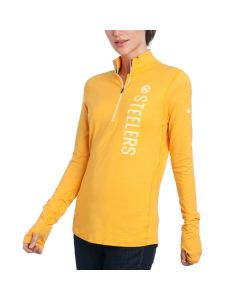 Pittsburgh Steelers Nike Women's Element 1/4 Zip Top