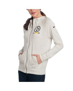 Pittsburgh Steelers Nike Women's Full Zip Gym Vintage Fleece Hoodie