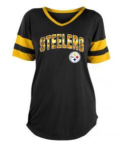 Pittsburgh Steelers Women's New Era Short Sleeve Mesh T-Shirt