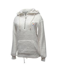 Pittsburgh Steelers Women's Sherpa 1/2 Zip Hoodie
