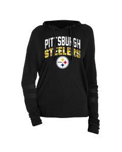 Pittsburgh Steelers Women's Pullover Hoodie Long Sleeve Tee