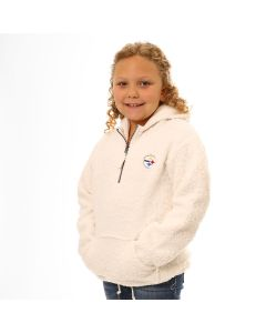 Pittsburgh Steelers Girls' Sherpa 1/2 Zip Hoodie