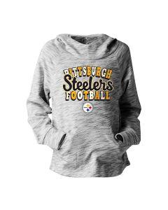 Pittsburgh Steelers Girls' Space Dye Pullover Hoodie