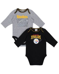 Pittsburgh Steelers Infant Boys' 2 Pack Long Sleeve Bodysuits