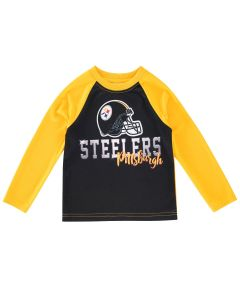 Pittsburgh Steelers Toddler Boys Raglan Helmet Long Sleeve T-Shirt