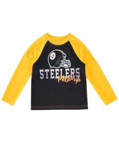 Pittsburgh Steelers Toddler Boys Raglan Helmet Long Sleeve T-Shirt