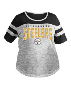 Pittsburgh Steelers Women's Plus Size 2019 Space Dye Short Sleeve T-Shirt