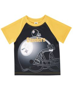 Pittsburgh Steelers Toddler Boys Helmet Short Sleeve T-Shirt