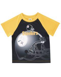 Pittsburgh Steelers Toddler Boys Helmet Short Sleeve T-Shirt