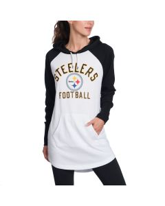 Pittsburgh Steelers Women's All Division Long Sleeve Tunic Hooded T-Shirt