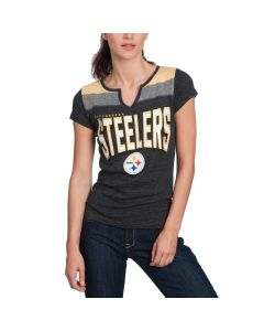 Pittsburgh Steelers Women's New Era Triblend Short Sleeve T-Shirt