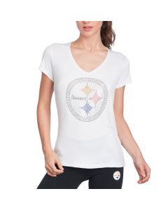 Pittsburgh Steelers Cuce Women's Crystal Logo Tee