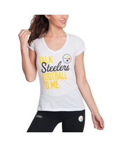 Pittsburgh Steelers Women's Talk Steelers Football To Me Short Sleeve T-Shirt