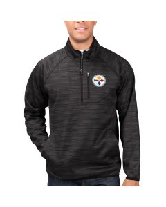 Pittsburgh Steelers Power Play Transitional 1/2 Zip Pullover Top - Extended Sizing