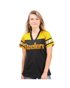 Pittsburgh Steelers Women's Short Sleeve 4th Down Jersey Tee