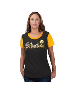Pittsburgh Steelers Women's Short Sleeve Trophy T-Shirt