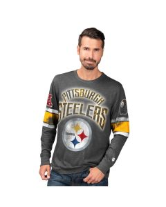 Pittsburgh Steelers Men's Long Sleeve Pick 6 T-Shirt