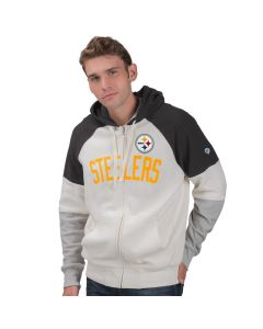 Pittsburgh Steelers Point Check Full Zip Fleece Hoodie