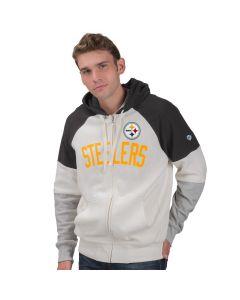 Pittsburgh Steelers Point Check Full Zip Fleece Hoodie