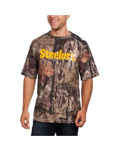 Pittsburgh Steelers Breakout Mossy Oak Camo Short Sleeve T-Shirt