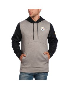Pittsburgh Steelers Under Armour NFL Combine Fleece Novelty Hoodie Grey