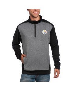 Pittsburgh Steelers Cutter & Buck DryTec Replay 1/2 Zip Top