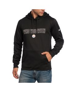Pittsburgh Steelers Nike Who You With Fleece Hoodie