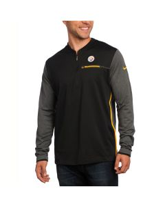 Pittsburgh Steelers Nike Coach's 1/2 Zip Long Sleeve Top