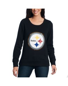Pittsburgh Steelers '47 Women's  Sparkle Headline Fleece Crew