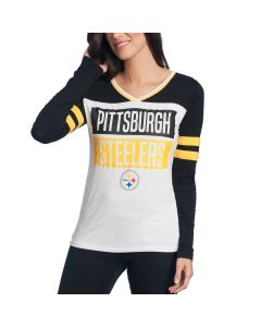 Pittsburgh Steelers Women's New Era Jersey Long Sleeve T-Shirt